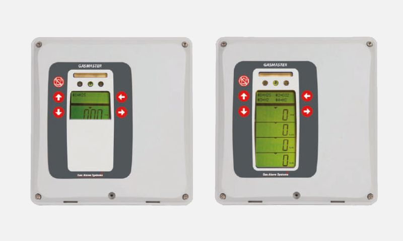 Fixed gas detection systems, detectors, monitors and alarms